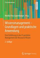 Wissensmanagement   Grundlagen und praktische Anwendung PDF
