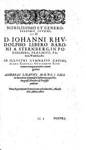 Appendix necessaria Syntagmatis arcanorum chymicorum Andreae Libauii ...: In qua praeter arcanorum nonnullorum expositionem et illustrationem quorundam item medicorum hermeticorum, ... Accesserunt, I. Iudicium breve de Dea Hippocratis ... II. Schema medicinae Hippocraticae et hermeticae simul ... III. Examen philosophiae magicae Crollii, IV. Censura philosophiae vitalis Joannis Hartmanni, V. Admonitio de regulis Nouae Rotae,... Omnia studio et opera Andreae Libauii m.d. & c