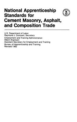 National Apprenticeship Standards for Cement Masonry  Asphalt  and Composition Trade PDF
