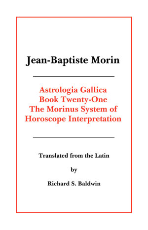 Morinus System of Horoscope Interpretation