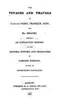 The Voyages and Travels of Captains Parry  Franklin  Ross  and Mr  Belzoni PDF