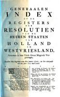 Generaale index op de register van de heeren Staaten van Holland PDF