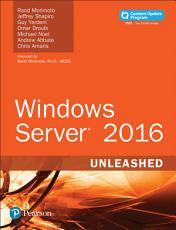 Windows Server 2016 Unleashed  includes Content Update Program  PDF