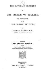 The Catholic Doctrine of the Church of England: An Exposition of the Thirty-nine Articles, Volume 40