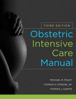 Obstetric Intensive Care Manual  Third Edition PDF