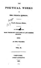 The poetical work of Mrs. Felicia Hemans: Volume 2