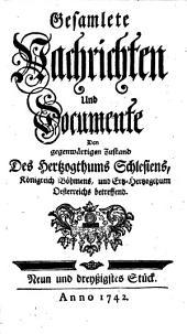Gesamlete Nachrichten Den gegenwärtigen Zustand des Herzogthums Schlesien betreffend: Band 39