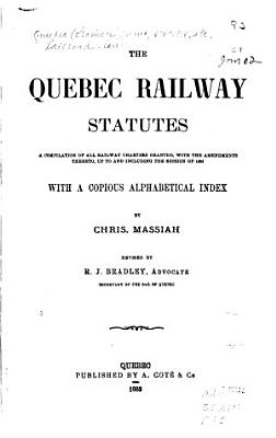 The Quebec Railway Statutes PDF