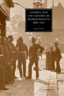 London and the Culture of Homosexuality, 1885-1914