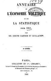 Annuaire de l'économie politique et de la statistique: Volume8