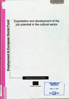 Exploitation and Development of the Job Potential in the Cultural Sector PDF