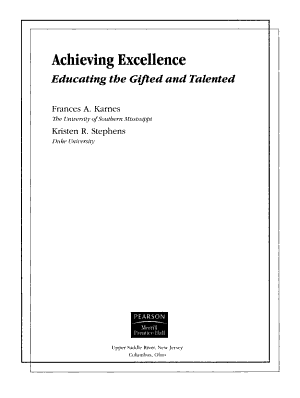 Achieving Excellence PDF