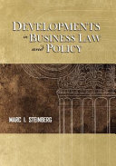 Developments in Business Law and Policy Book
