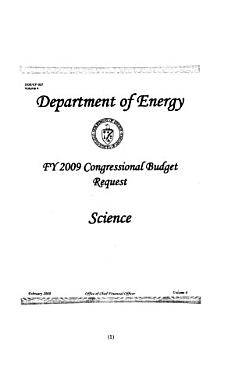 Energy and Water Development Appropriations for 2009 PDF