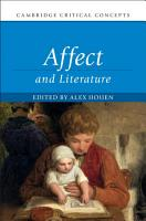 Affect and Literature PDF