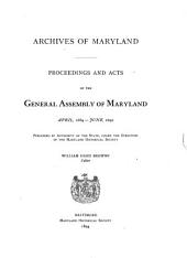 Proceedings and Acts: Jan. 1637-, Volume 13