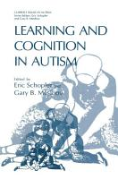 Learning and Cognition in Autism PDF