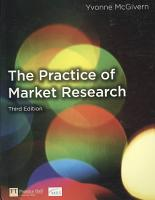 The Practice of Market Research PDF