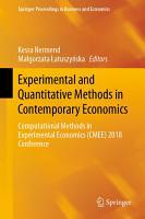 Experimental and Quantitative Methods in Contemporary Economics PDF
