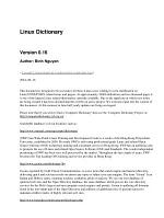Linux Dictionary