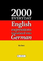 2000 Everyday English Expressions Translated into German PDF