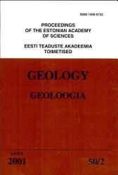 Proceedings of the Estonian Academy of Sciences  Geology PDF
