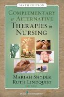 Complementary   Alternative Therapies in Nursing PDF