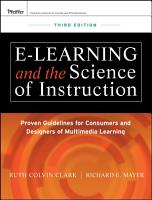 e Learning and the Science of Instruction PDF