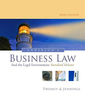 Anderson s Business Law and the Legal Environment  Standard Volume PDF