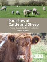 Parasites of Cattle and Sheep PDF