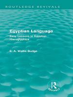 Egyptian Language  Routledge Revivals  PDF