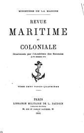 Revue maritime et coloniale: Volume124