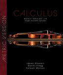 Single Variable Calculus  International Metric Edition