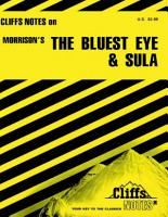 CliffsNotes on Morrison s The Bluest Eye   Sula PDF