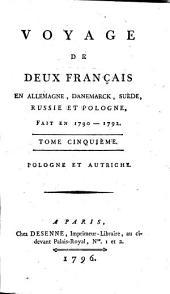 Voyage de deux Français en Allemagne, Danemarck, Suède, Russie et Pologne: fait en 1790-1792 ...