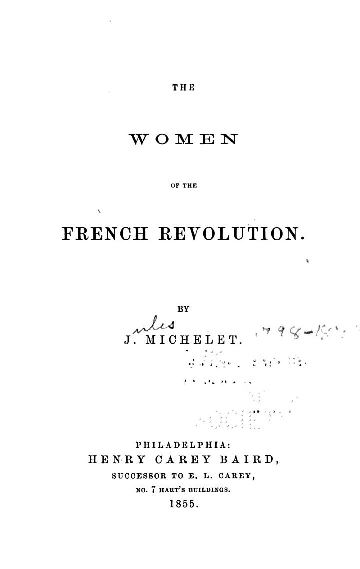 The Women of the French Revolution