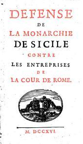 Défense de la monarchie de Sicile contre les entreprises de la Cour de Rome: 1