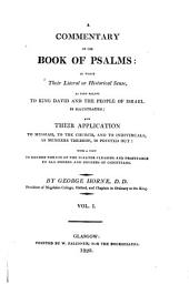 Commentary on the Book of Psalms: Volume 1
