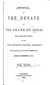 Journal of the Senate of the State of Ohio: Volume 47