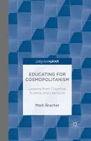 Educating for Cosmopolitanism  Lessons from Cognitive Science and Literature PDF