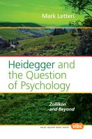 Heidegger and the Question of Psychology PDF