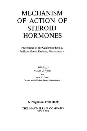 Mechanism of Action of Steroid Hormones