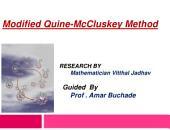 Modified Quine-Mccluskey Method: Fun with logic minimization