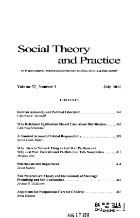 Social Theory and Practice PDF