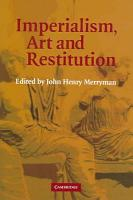 Imperialism  Art and Restitution PDF