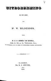 Uitboezeming bij den dood van Mr. W. Bilderdijk