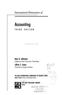 International Dimensions of Accounting PDF