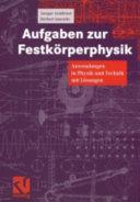 Aufgaben zur Festk  rperphysik PDF