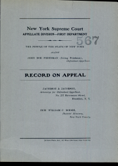 New York Supreme Court Appellate Division- First Department