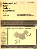 Journal of East Asian Libraries PDF